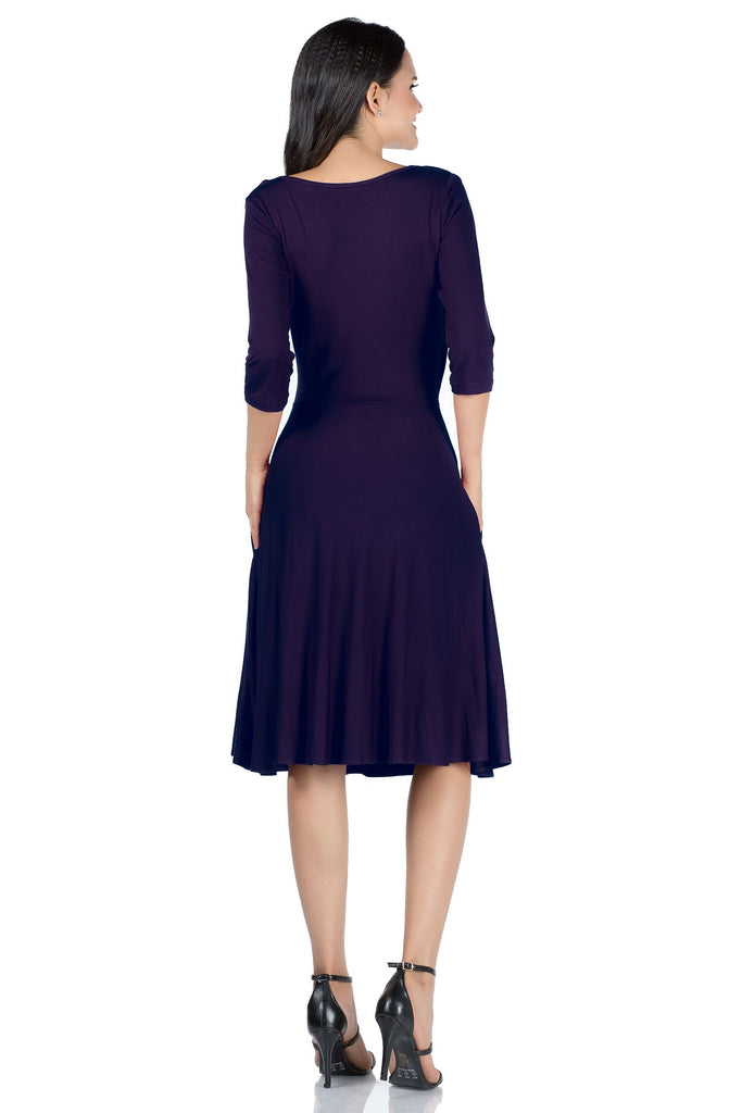 Classic Long Sleeve Casual Dress