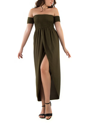 Mysterious Off Shoulder Maxi Dress - Fashion Dresses | Fashionhouse