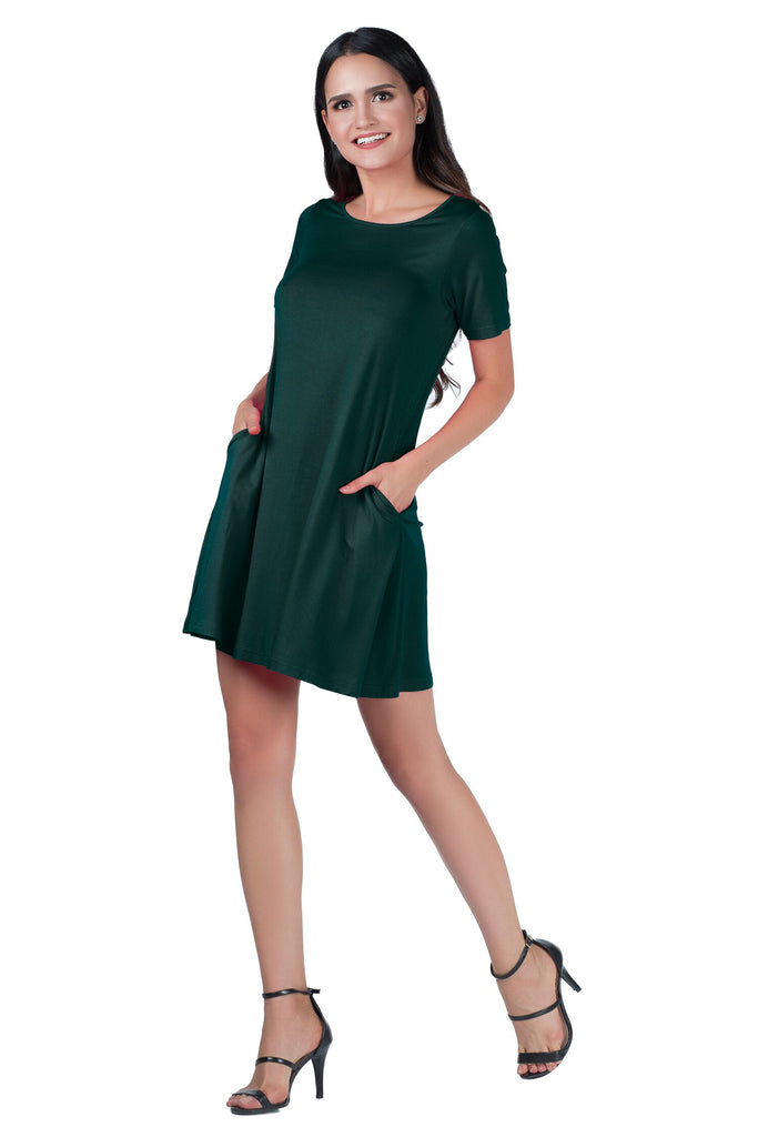 Viscose Tunic Dress with Pockets