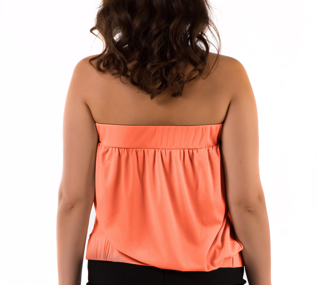 Strapless Pleated Tube Top