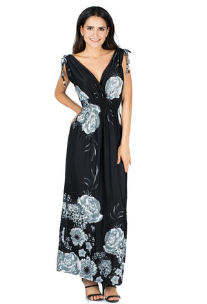 Wildflower Printed Maxi Dress - Women Clothing | Fashionhouse