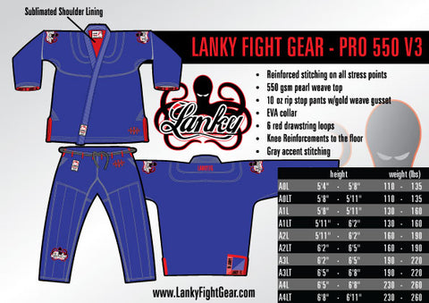 Lanky PRO 550 V3 - Blue - SEPARATES - Tops