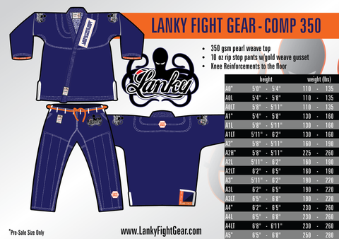 COMP 350 - Blue - SEPARATES - Lanky Fight Gear  - 1