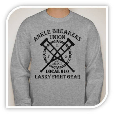 Ankle Breakers Union - Long Sleeve Grey - Lanky Fight Gear
