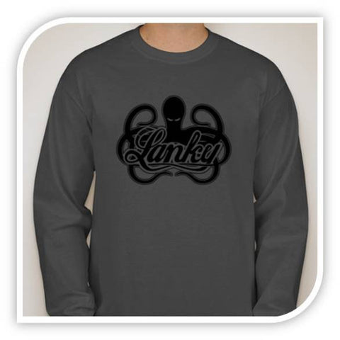 Logo T - Long Sleeve Gunmetal - Lanky Fight Gear
