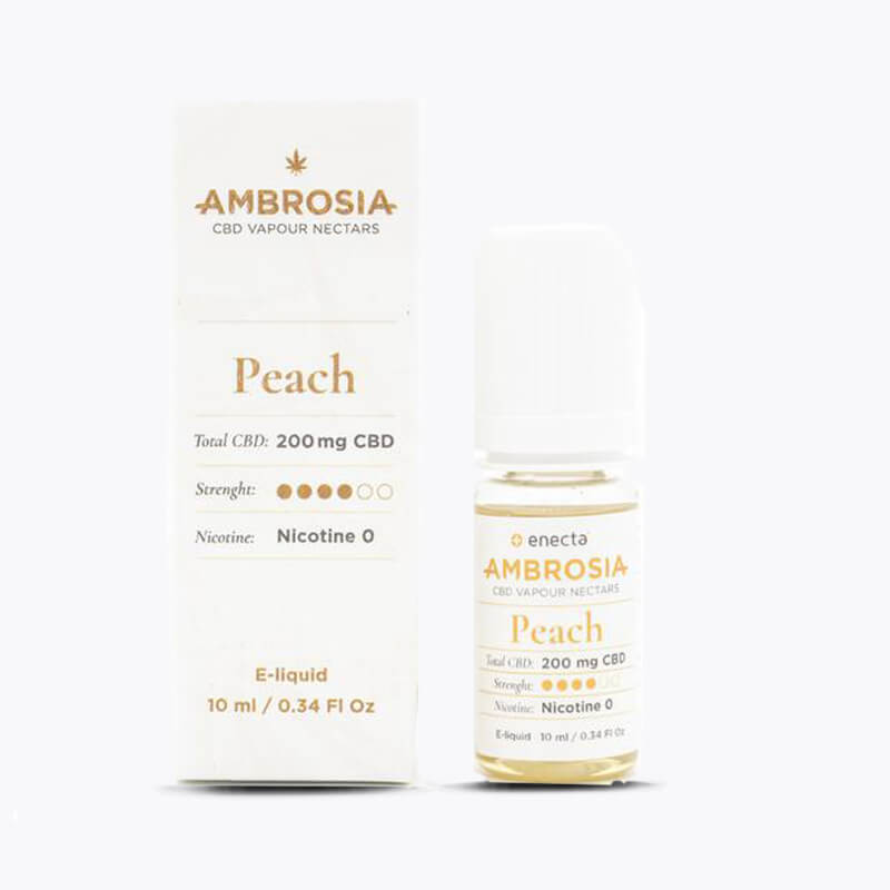 Ambrosia CBD Vape │ 200 mg │ 10 ml │ Peach - HEMPERIA