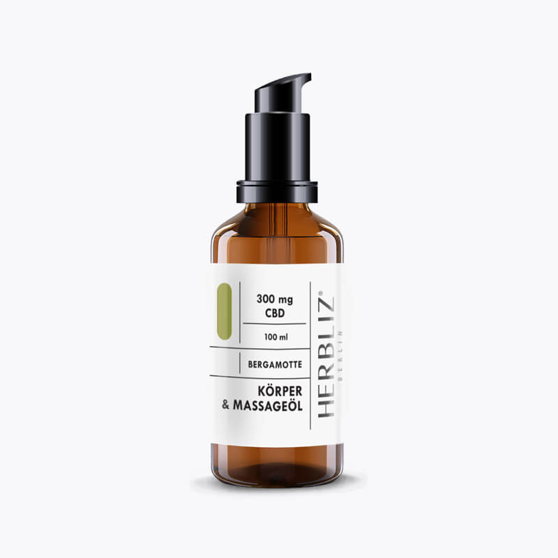 CBD Massageöl │ 100 ml │ Bergamotte - HEMPERIA