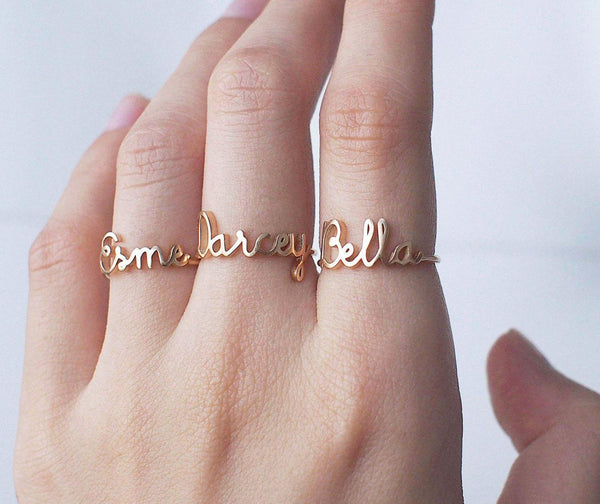 Personalized Name Ring - Custom Word Ring