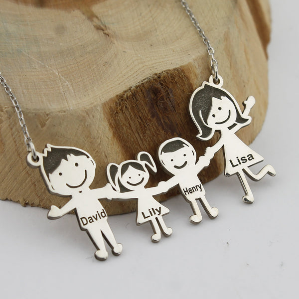 Family Figures Necklace