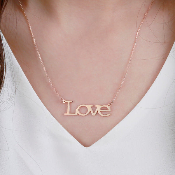 Silver Name Necklace - Custom Word Necklace