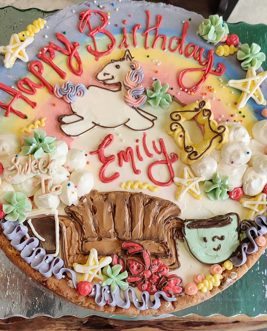 Unicorn and Friends themed Cookie cake!