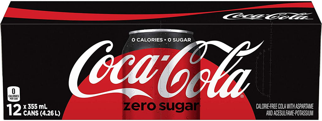 Coca-Cola Zero Sugar, 355mL can, 12 Pack