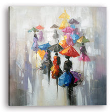 "Load image into Gallery viewer, ""Rain in Memory II"" Hand Painted on Wrapped Canvas"