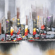 "Load image into Gallery viewer, ""City View New York"" Hand Painted on Wrapped Canvas"