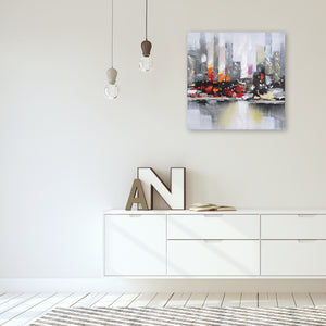 """City View Wall"" Hand Painted on Wrapped Canvas"