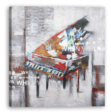 "Load image into Gallery viewer, "" Abstract Piano "" Hand Painted on Wrapped Canvas"