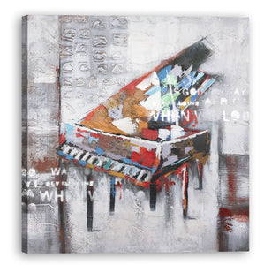 """ Abstract Piano "" Hand Painted on Wrapped Canvas"