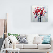 "Load image into Gallery viewer, ""Flowers in Vase"" Hand Painted on Wrapped Canvas"