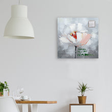 "Load image into Gallery viewer, ""Flower in Memory Wall Decor Artwork II"" Hand Painted on Wrapped Canvas"