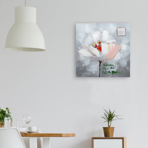 """Flower in Memory Wall Decor Artwork II"" Hand Painted on Wrapped Canvas"