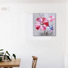 "Load image into Gallery viewer, ""Pink Flowers"" Hand Painted on Wrapped Canvas"