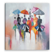 "Load image into Gallery viewer, ""Rain in Memory"" Hand Painted on Wrapped Canvas"