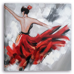 """Dancing Girl"" Hand Painted on Wrapped Canvas"