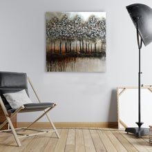 "Load image into Gallery viewer, ""Abstract Trees in Sunset"" Hand Painted on Wrapped Canvas"