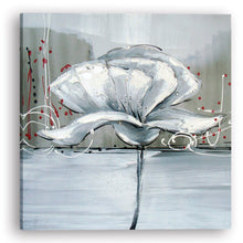 "Load image into Gallery viewer, ""Winter Flower I"" Hand Painted on Wrapped Canvas"