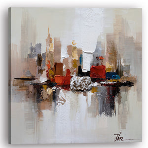 """City Ruins II"" Hand Painted on Wrapped Canvas"