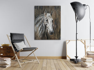 'Texas Horse ' Oil Painting Print on Wrapped Canvas