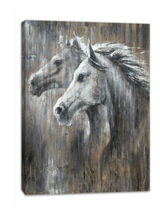 'lovely Horse' Oil Painting Print on Wrapped Canvas