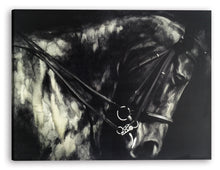 Load image into Gallery viewer, 'Horse in the Dark II' Oil Painting Print on Wrapped Canvas