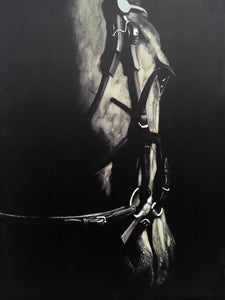 'Horse in the Dark V' Oil Painting Print on Wrapped Canvas