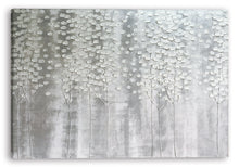 "Load image into Gallery viewer, ""Christmas Snow White Forest"" Hand Painted on Wrapped Canvas"