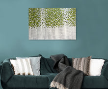 "Load image into Gallery viewer, ""Spring Green Forest"" Hand Painted on Wrapped Canvas"