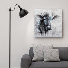 "Load image into Gallery viewer, ""Mysterious Cow Hand Painted"" Canvas Artwork"