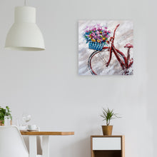 "Load image into Gallery viewer, ""A Lovely Sunday Morning"" Hand Painted on Wrapped Canvas"