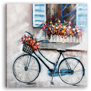 """A Bike under the window"" Hand Painted on Wrapped Canvas"
