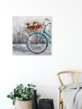 "Load image into Gallery viewer, ""Flowers in the Morning "" Hand Painted on Wrapped Canvas"