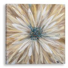 "Load image into Gallery viewer, ""Yellow Daisy"" Hand Painted on Wrapped Canvas"