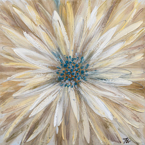 """Yellow Daisy"" Hand Painted on Wrapped Canvas"