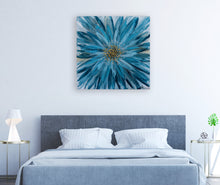 "Load image into Gallery viewer, ""Blue Daisy"" Hand Painted on Wrapped Canvas"