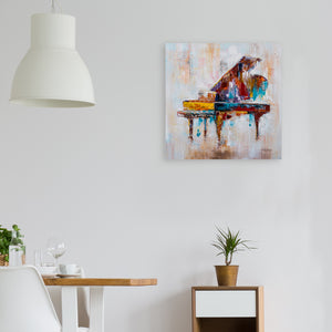 """Colorful Grand Piano"" Hand Painted on Wrapped Canvas"