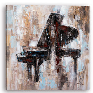 """Abstract richly colored piano"" Hand Painted on Wrapped Canvas"