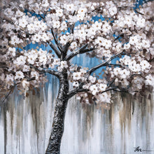 "Load image into Gallery viewer, ""Cherry Blossom I"" Hand Painted on Wrapped Canvas"