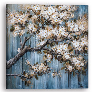 """Cherry Blossom III"" Hand Painted on Wrapped Canvas"