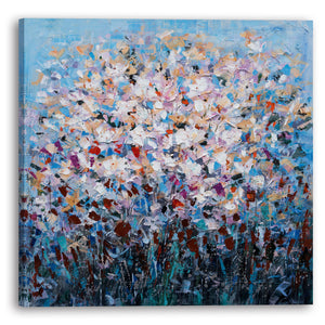"""Dozens of Petals I"" Hand Painted on Wrapped Canvas"