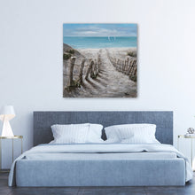"Load image into Gallery viewer, ""Summer by the Beach"" Hand Painted on Wrapped Canvas"