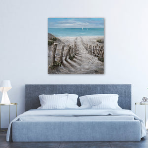 """Summer by the Beach"" Hand Painted on Wrapped Canvas"